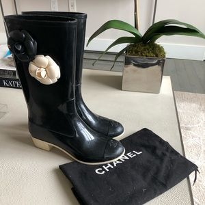 Chanel Camelia Rainboots